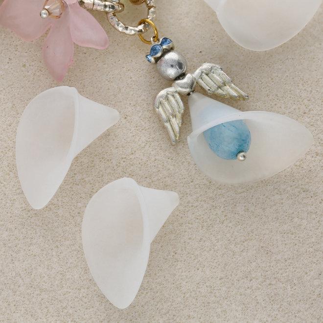 Fleur de Calla - perle acrylique - blanc