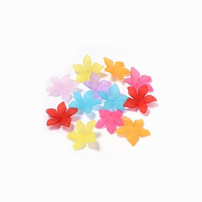 Fleur - perle acrylique
