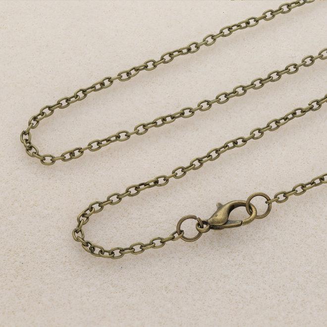 Fertige Halskette 62 cm - Bronze antik