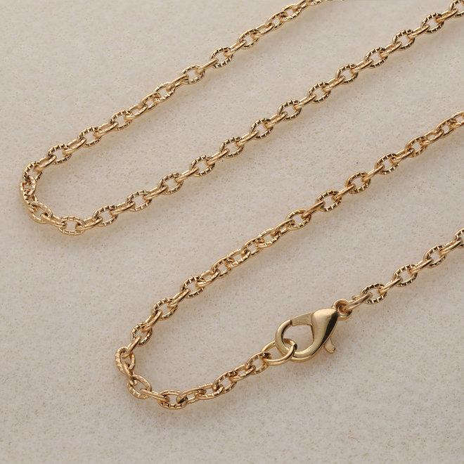 Fertige Halskette 62 cm - Vergoldet