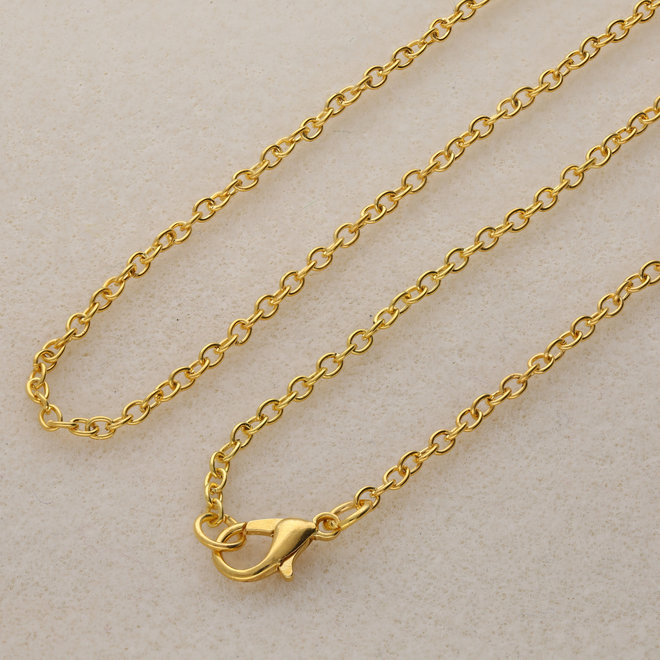 Fertige Halskette 45,7 cm - Vergoldet