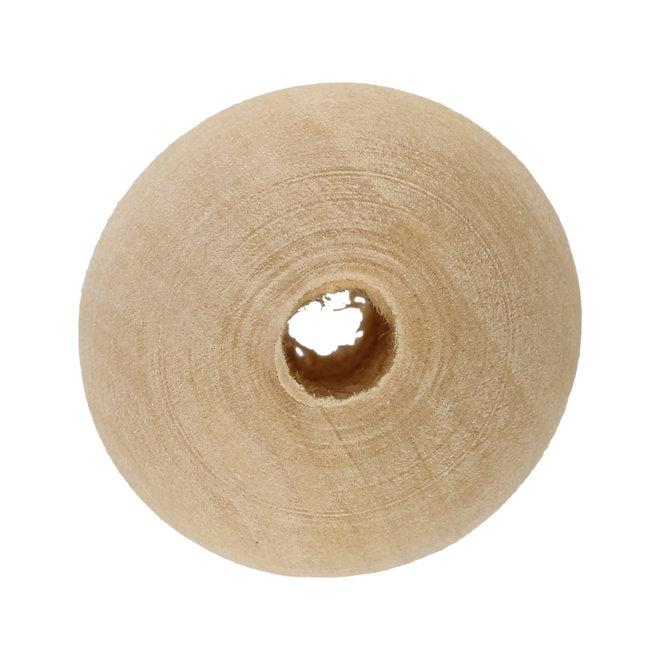 Holzperle 24 x 23 mm – Rohholz