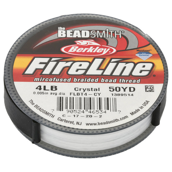 Fil à tisser Fireline 4 lb - Crystal