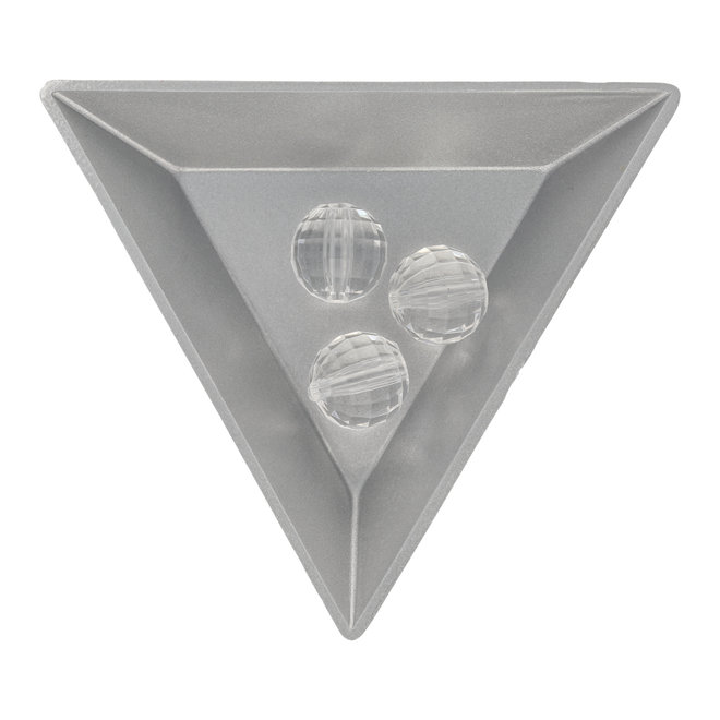 Facettierte runde Acrylperle - 12 mm - Transparent