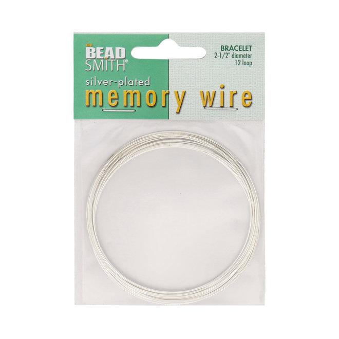 Armband – Memory Wire - 63,5 mm – Silber (12 Umdrehungen)