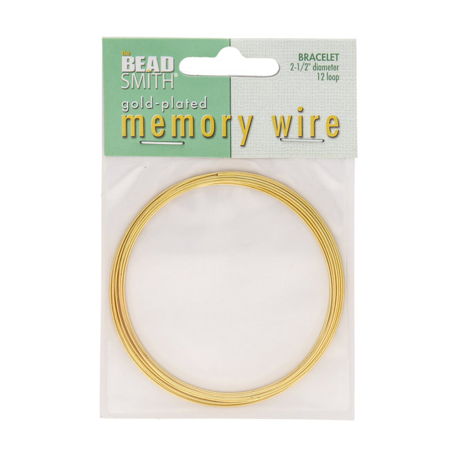 Bracelet – Memory Wire – 63, 5 mm – or (12 tours)