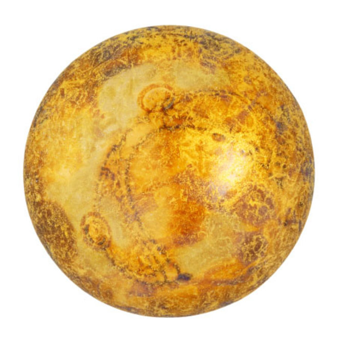 Cabochon par Puca® 25 mm - Crystal Gold Spotted