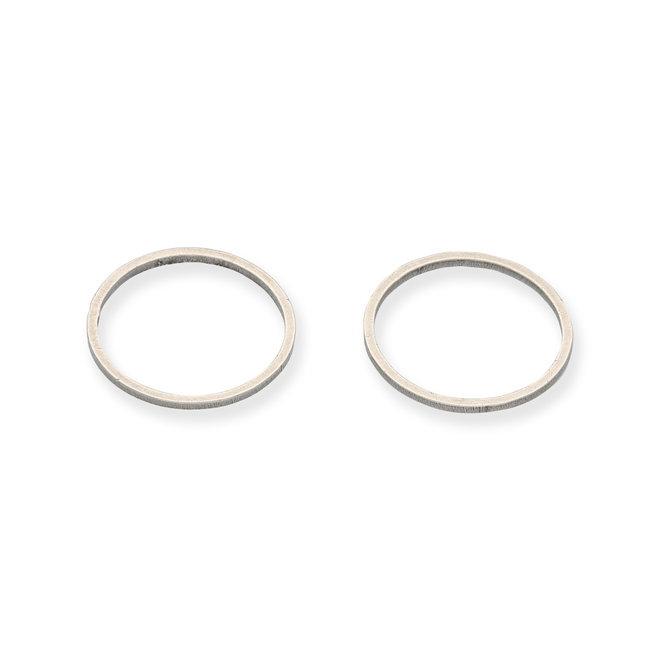 Connettore a forma di cerchio, Ø 15,5 mm - argento