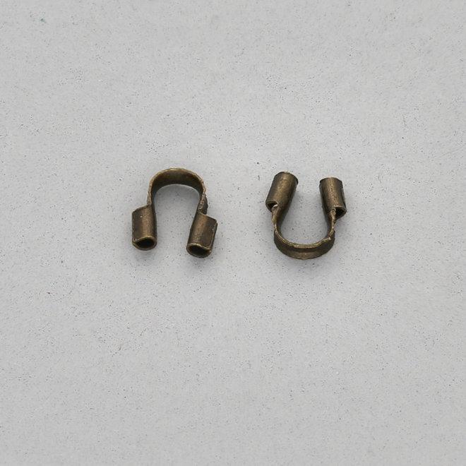 Drahtschutz (Wire guardian) aus Messing – Farbe Bronze