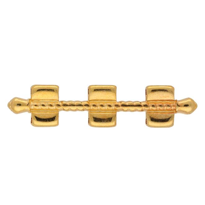 Kalogeros-Tila Bead Connector - 24K Gold Plate