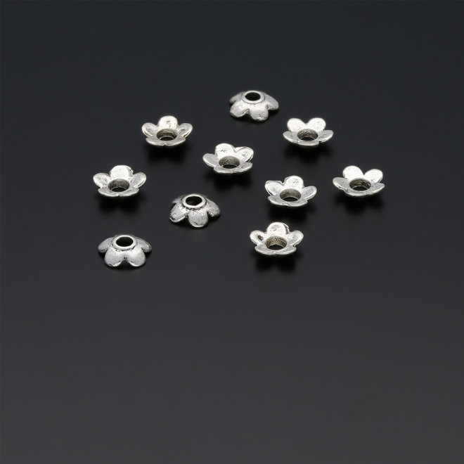 Coppette copri-perline a forma di fiore – 6,5 mm