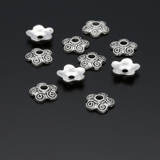 Coppette copri-perline a forma di fiore – 10 mm