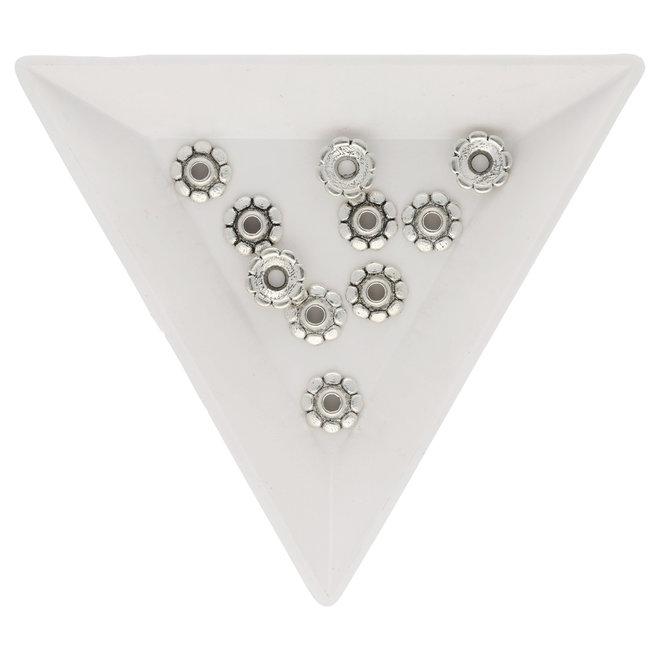 Coppette copri-perline a forma di fiore – 8 mm