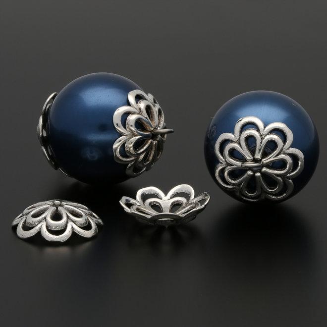 Coppette copri-perline a forma di fiore – 14 mm
