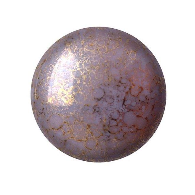 Cabochon par Puca - 18 mm - Opaque Amethyst Bronze