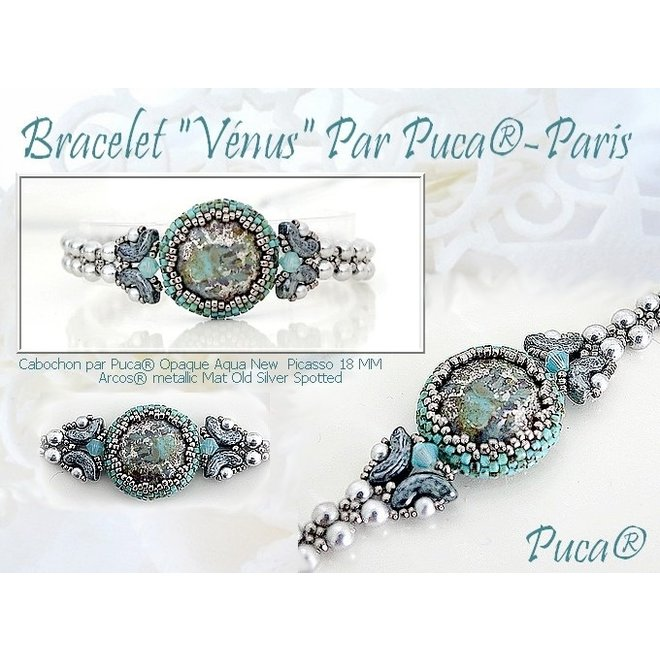 Cabochon par Puca - 18 mm - Opaque Hyacinth Bronze
