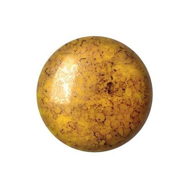 Cabochon par Puca - 18 mm - Opaque Jonquil Bronze