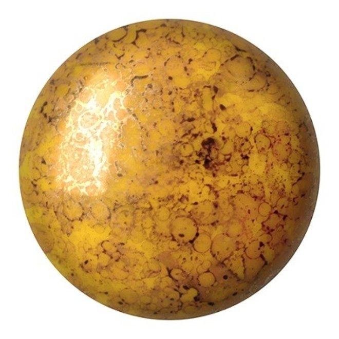 Cabochon par Puca - 25 mm - Opaque Jonquil Bronze
