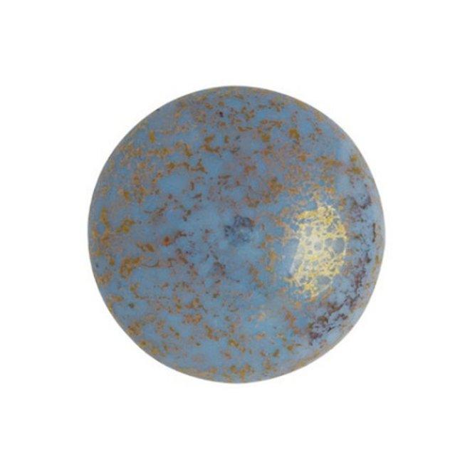 Cabochon par Puca - 18 mm - Opaque Aqua Bronze