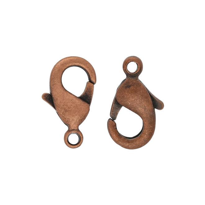 Fermoir mousqueton 10 mm – Couleur cuivre (10 pcs.)