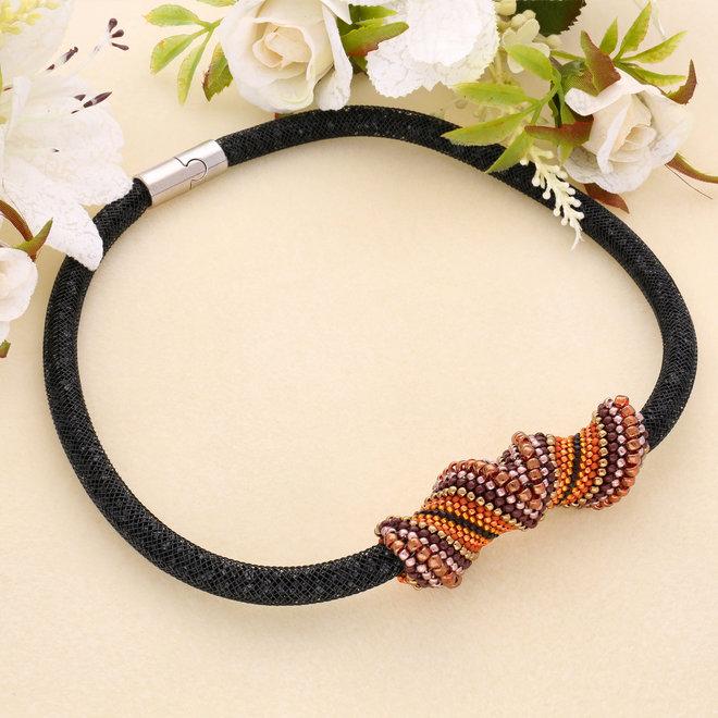 Bracelet tubulaire avec cristaux scintillants - Couleur Jet