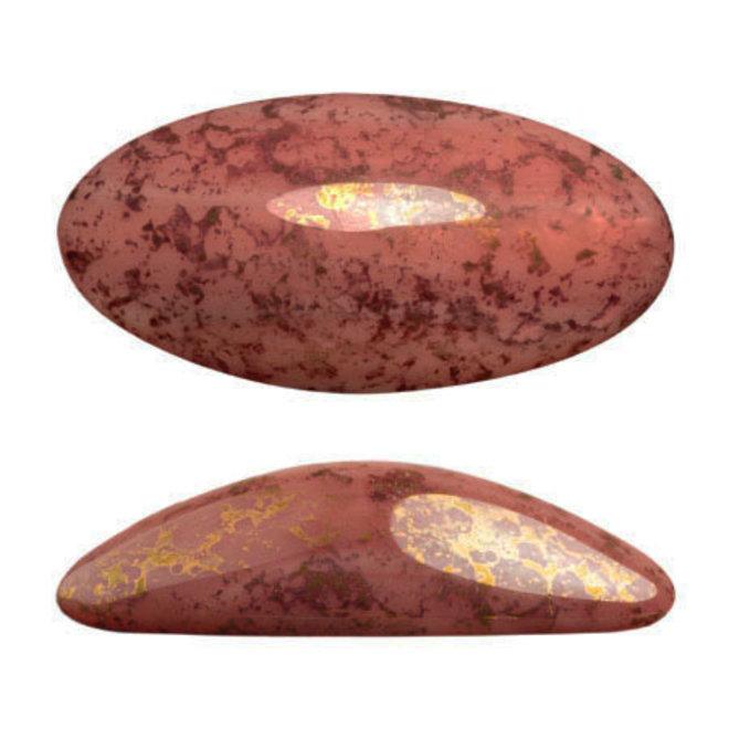 Cabochon Athos 3D par Puca® 20 x 10 mm - Opaque Rose Bronze (2 Stk.)