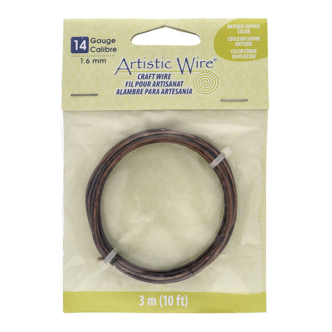 Filo di rame: Artistic Wire – 14 Gauge – Antique Copper