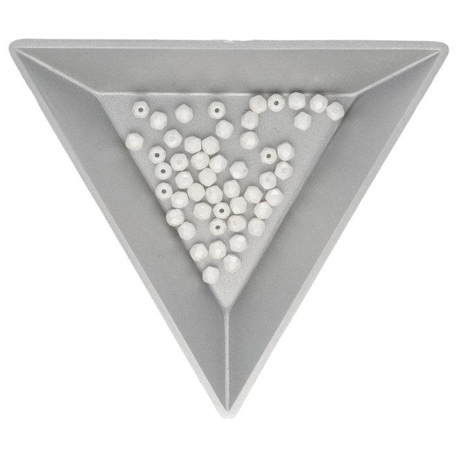 Fire polished 3 mm Glasperlen - Luster White