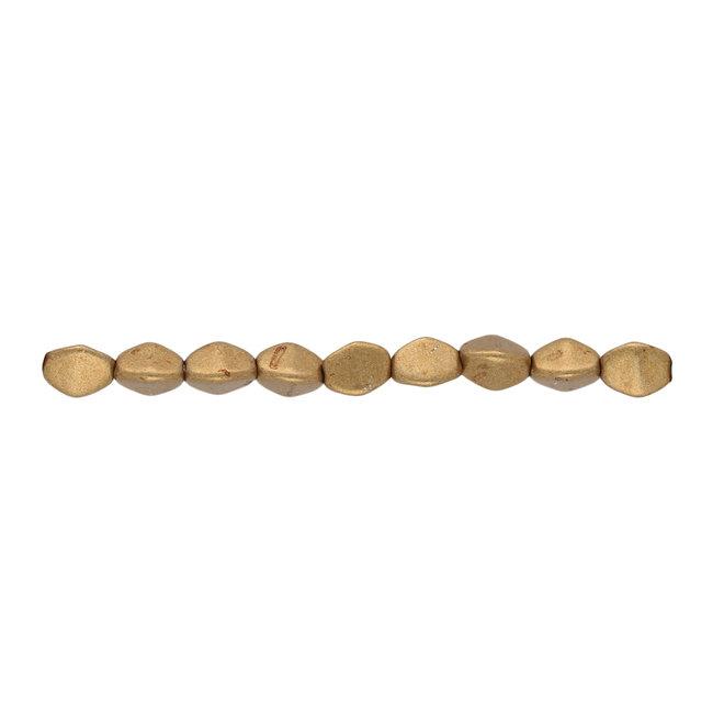 Pinch Bead 5x3 mm - Saturated Metallic Ceylon Yellow