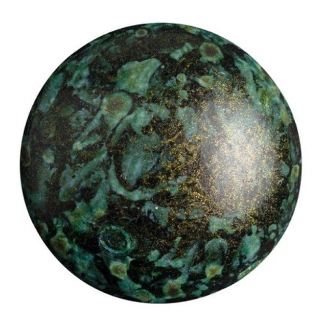 Cabochon par Puca® 25 mm - Metallic Mat Green Spotted