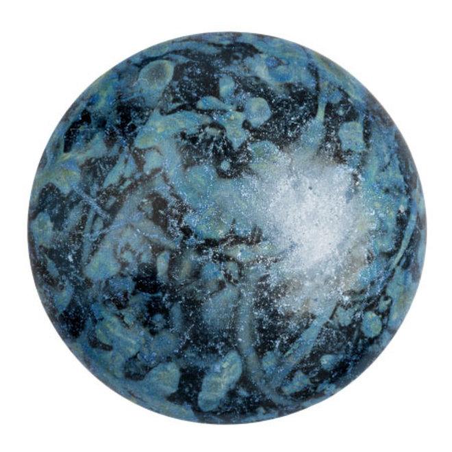 Cabochon par Puca® 25 mm - Metallic Mat Blue Spotted