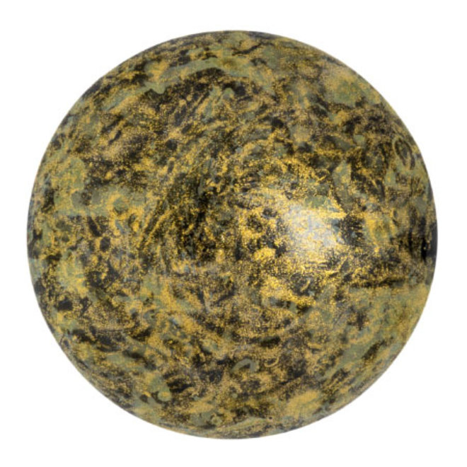 Cabochon par Puca® 25 mm - Metallic Mat Old Gold Spotted