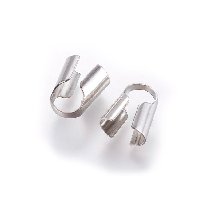 Embout pour cordon 13x7,5x11 mm - acier inoxydable