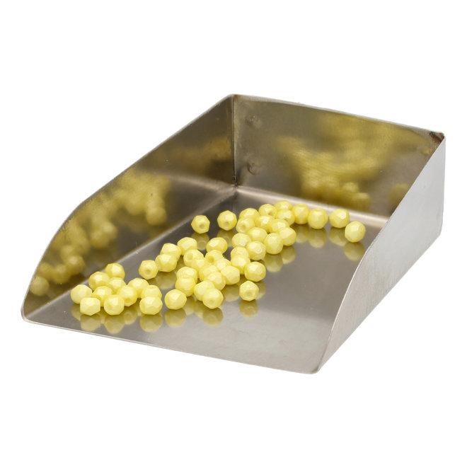 Fire polished 3 mm Glasperlen - Pearl Shine Amber
