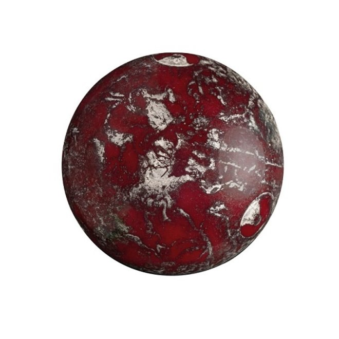Cabochon par Puca - 18 mm - Opaque Coral Red New Picasso