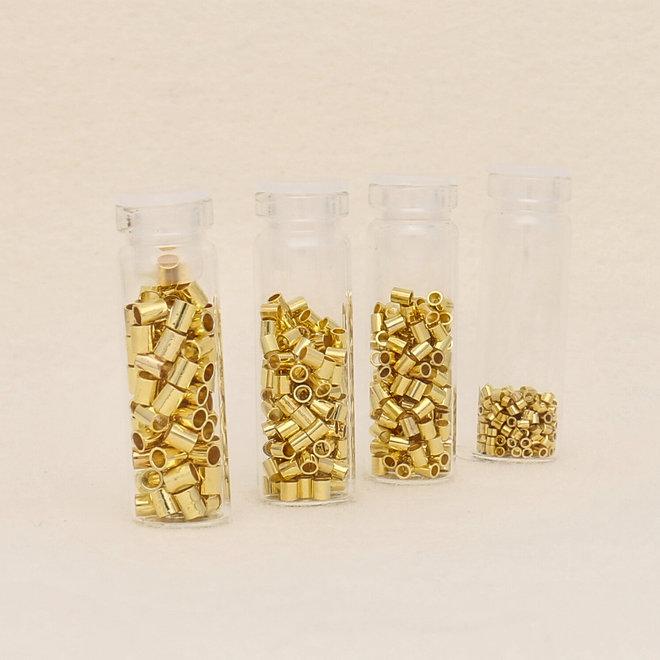 Basic Elements™ Quetschperlen (Rohr) – Sortiert -vergoldet