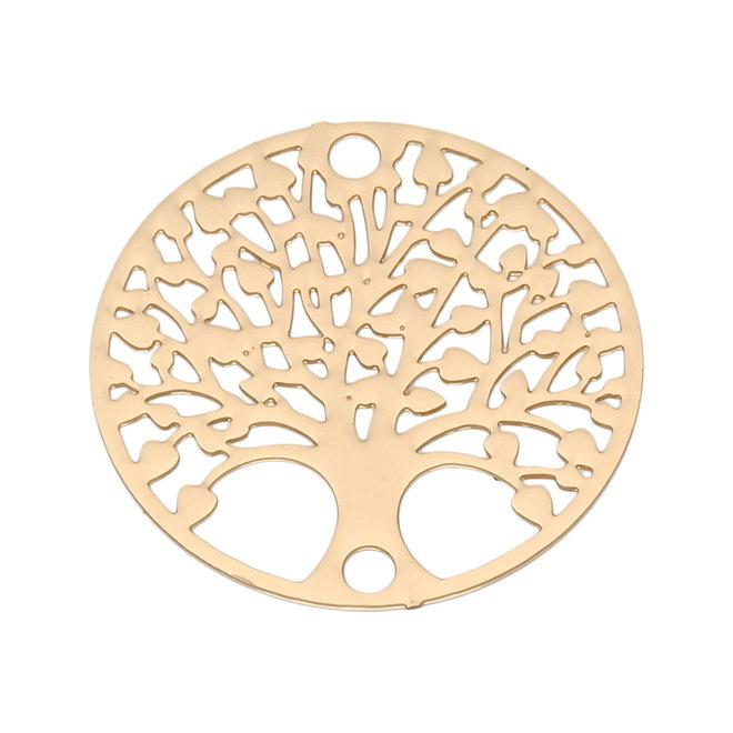 "Filigranes Verbindungselement ""Tree of Life"" 20 mm - vergoldet"