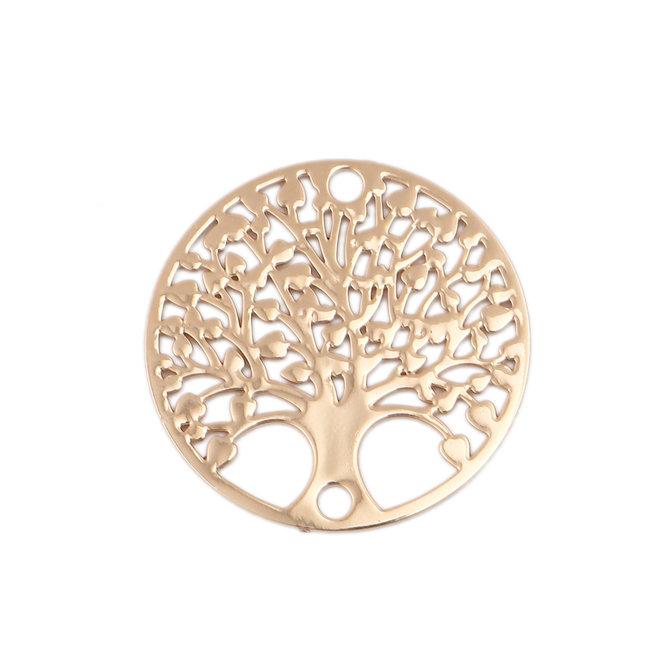 "Filigranes Verbindungselement ""Tree of Life"" - vergoldet"