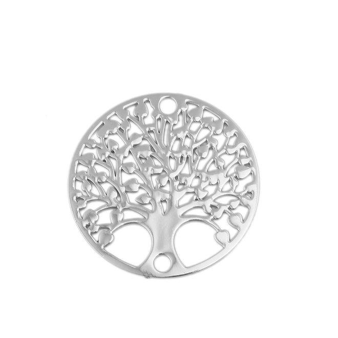 "Filigranes Verbindungselement ""Tree of Life"" - Silberfarbe"