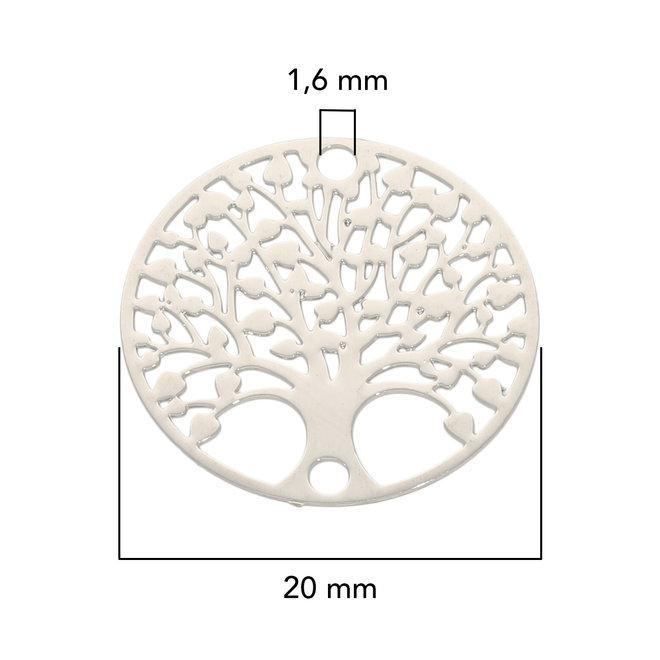 "Filigranes Verbindungselement ""Tree of Life"" 20 mm - Silberfarbe"