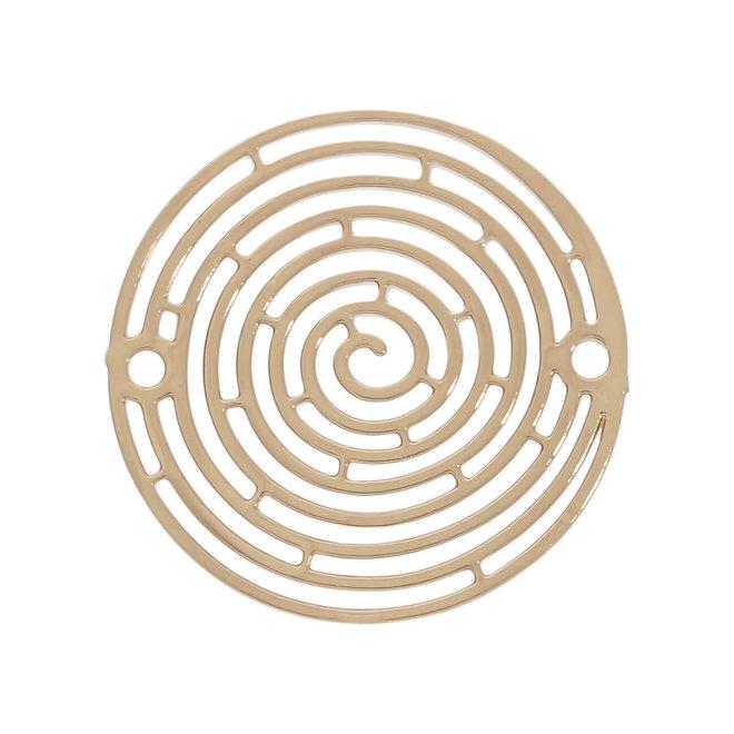 "Filigranes Verbindungselement ""Spirale"" 18 mm - vergoldet"