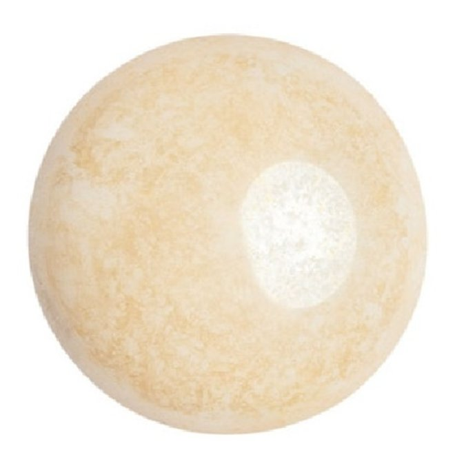 Cabochon par Puca® - 25 mm - Opaque Beige Ceramic Look