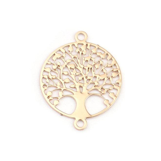 "Filigranes Verbindungselement ""Tree of Life"" 12 mm - vergoldet"
