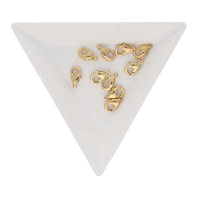 Karabinerverschluss 10 mm – Farbe Gold