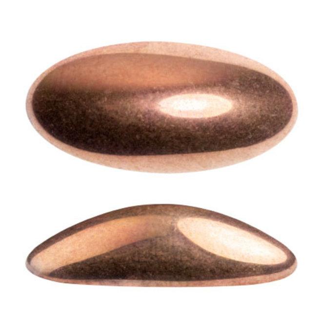 Cabochon Athos 3D par Puca® 20 x 10 mm - Full Capri Gold (2 Stk.)