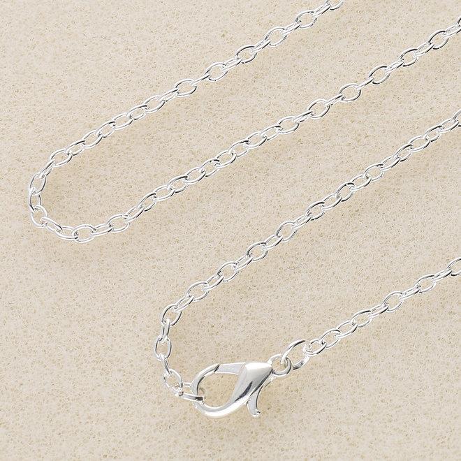 Fertige Halskette 45,6 cm - versilbert