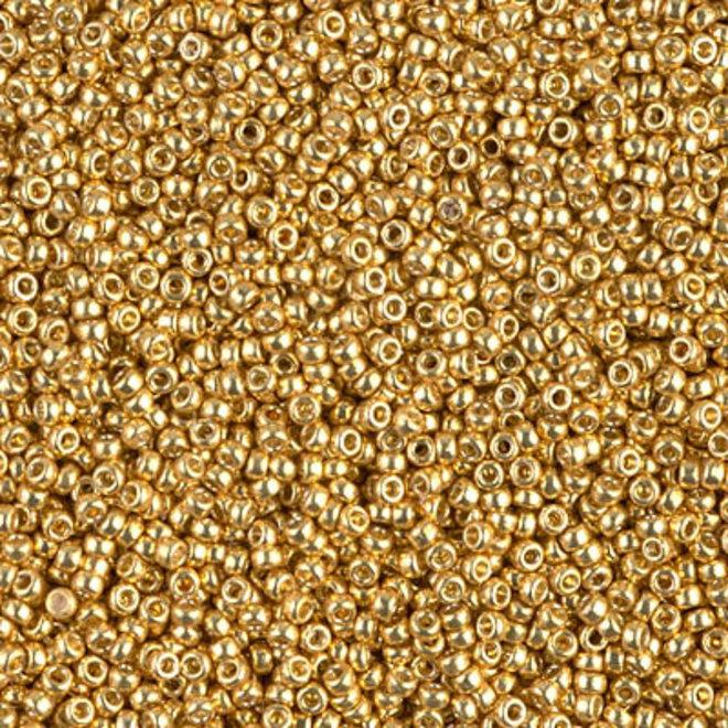 Perlina rocaille Miyuki 15/0 - Duracoat Galvanized Gold