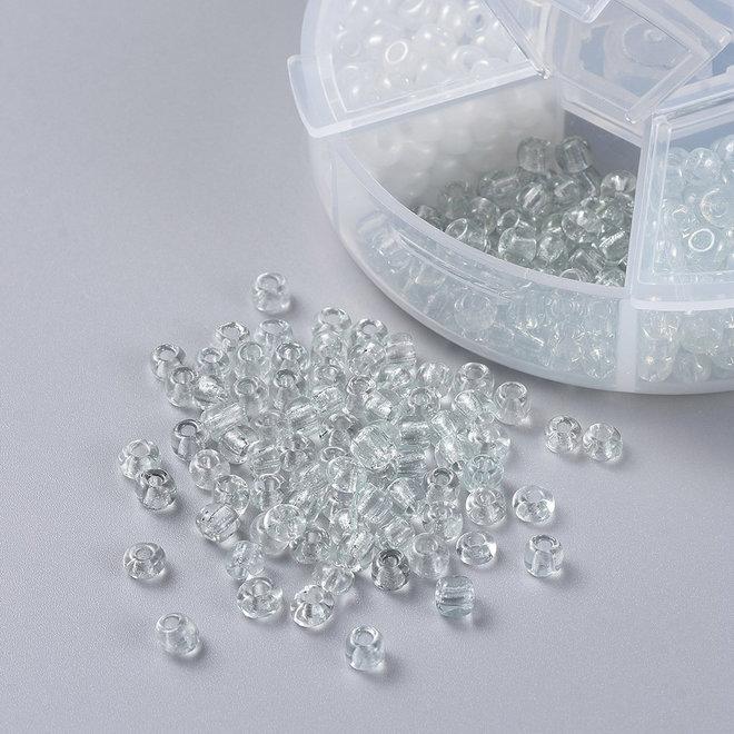 Perline Rocailles in vetro 6/0 taglio irregolare – Set A
