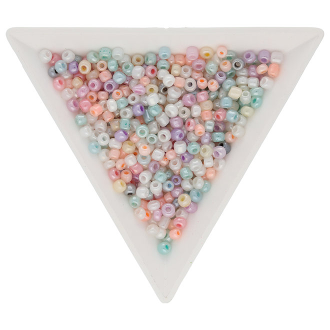 Perline Rocailles in vetro 3 mm taglio irregolare – Ceylon Pastel Mix