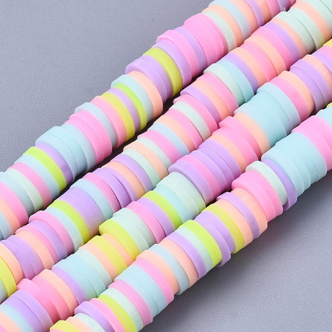Perline Heishi in pasta polimerica (Fimo) fatte a mano – 6 mm – Candy Mix